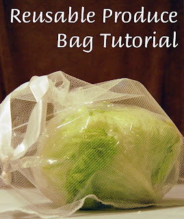 easy reusable produce bag tutorial