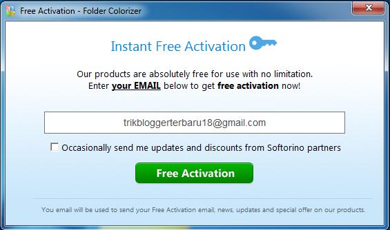 Masukkan email anda untuk aktivasi