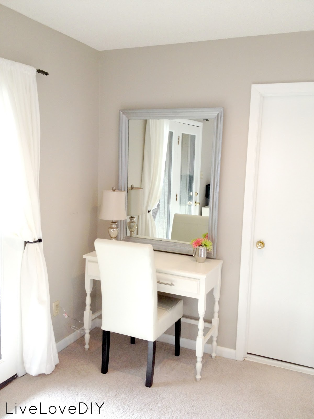 Livelovediy master bedroom updates Makeup room paint colors