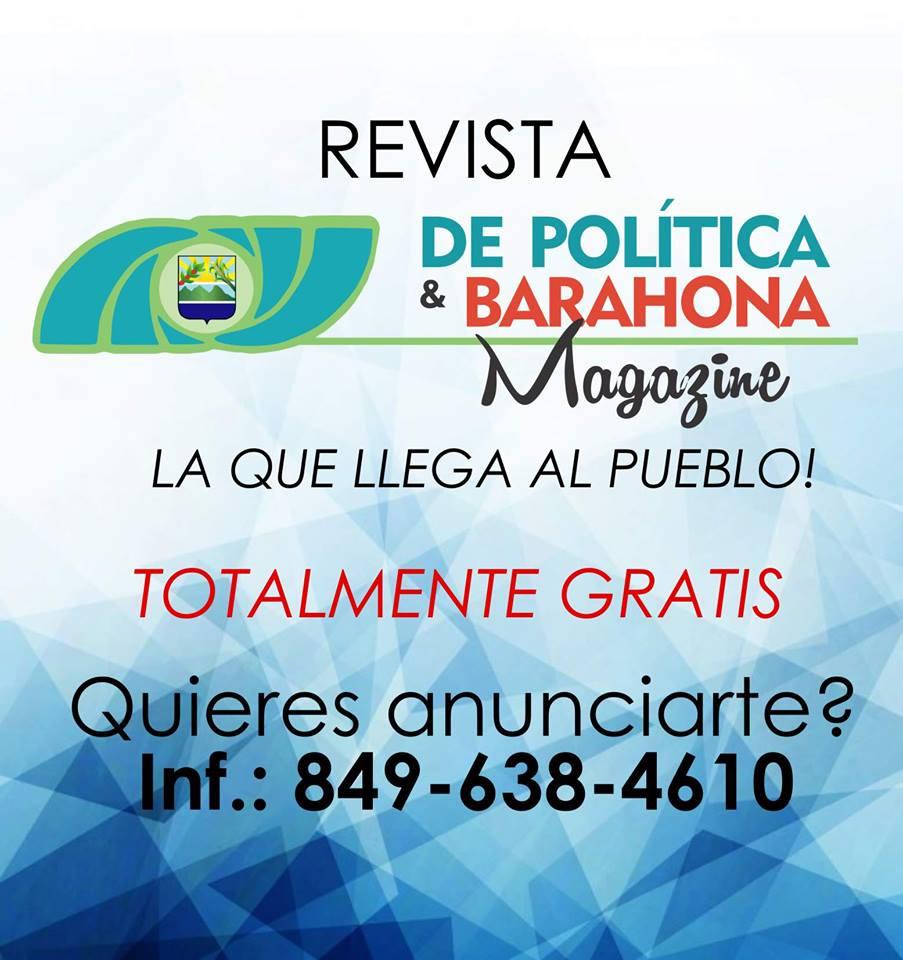 LA REVISTA BARAHONERA, TOTALMENTE GRATIS...ANUNCIATE