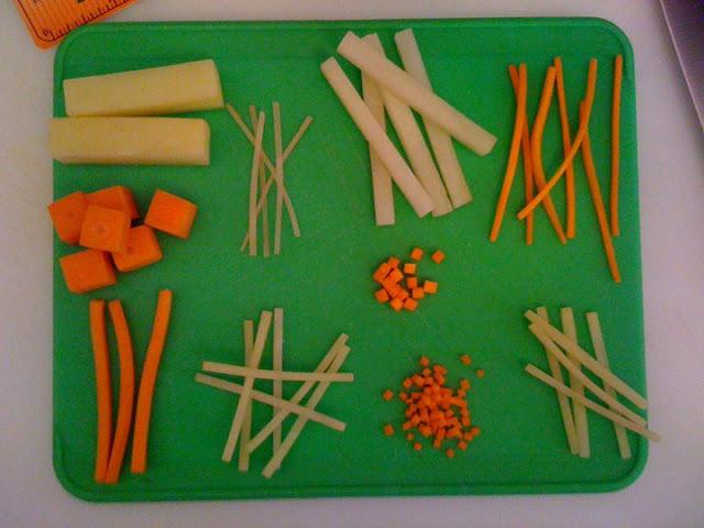 Basic knife cuts #KaceyCooks