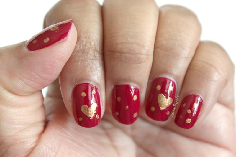 Easy Valentine\'s Day Nail Art Anyone Can Do!   STACIE RAYE