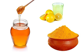 Lemon Honey and Turmeric for face and skin - Homeremediestipsideas
