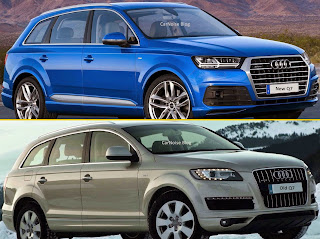 Exterior Side Front View: Audi 1st gen Q7 vs 2nd gen Q7