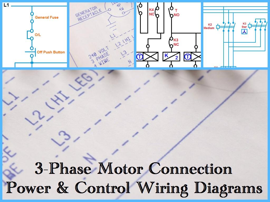 Three+Phase+Motor+Power+&+Control+Wiring+Diagrams three phase motor power & control wiring diagrams 3 phase motor wiring diagrams at beritabola.co