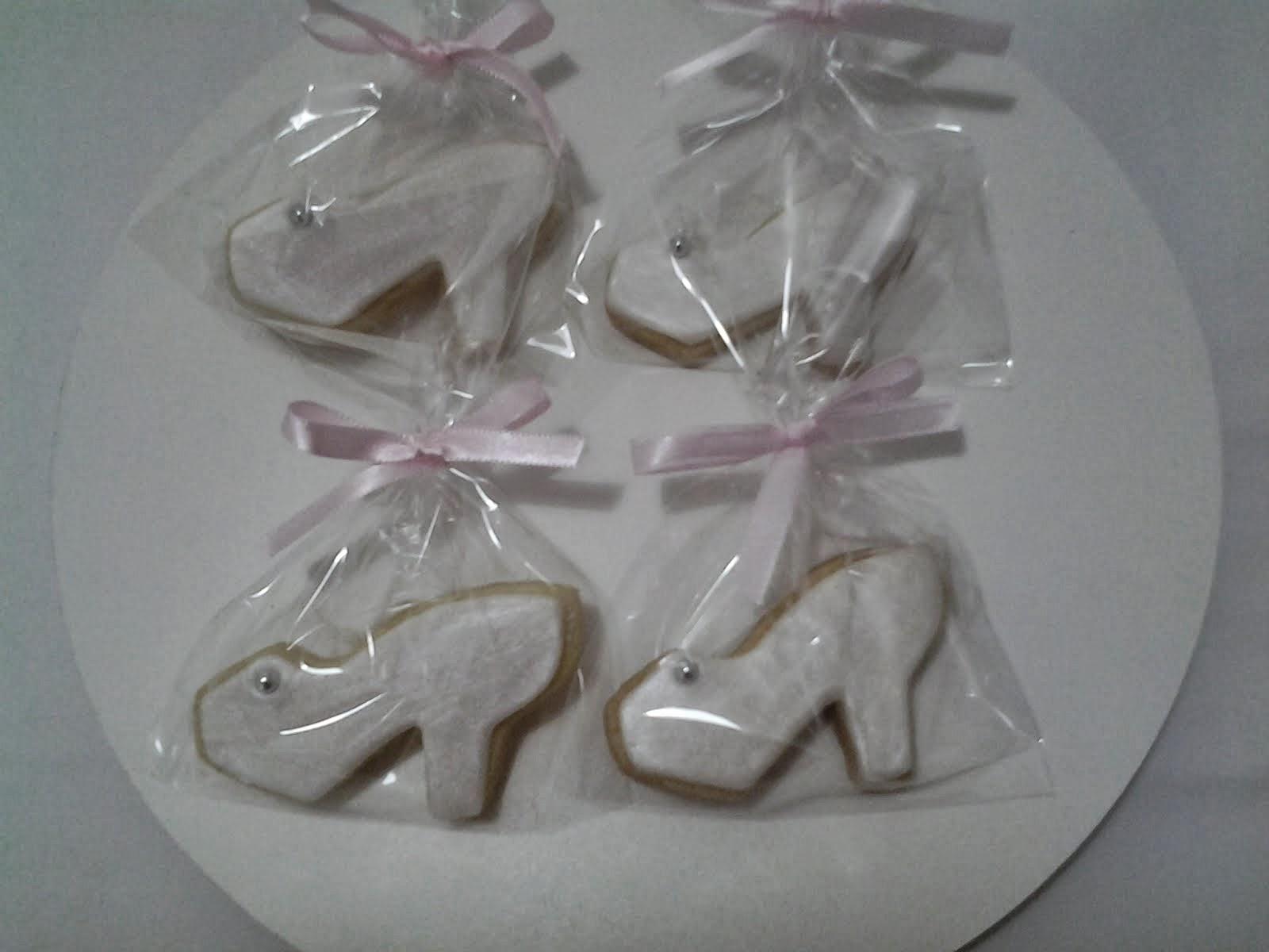 Biscoito decorado sapato de cristal