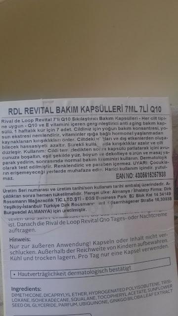RIVAL DE LOOP BAKIM KAPSÜLLERİ