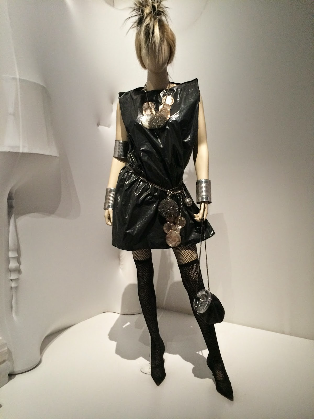 Garbage bag dress by Jean Paul Gaultier, Le Grand Palais, Paris