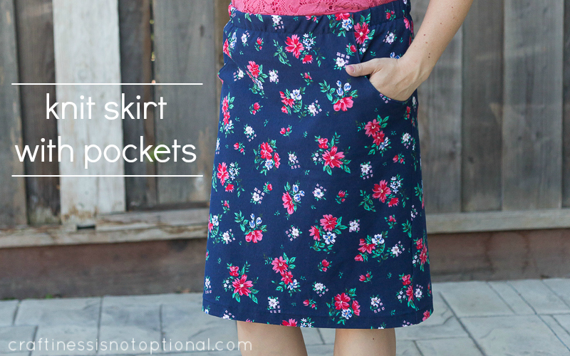 Free Knit Skirt Pattern : knit skirt with pockets: tutorial and free pocket pattern