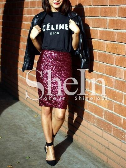 Christmas holidays sequin fashion skirt