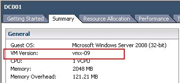 vSphere 5.1 -Features of VM Hardware Version 9