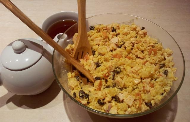 77gerda Zycie W Kolo Mnie Zaskakuje Salatka Curry Czyli Ryz