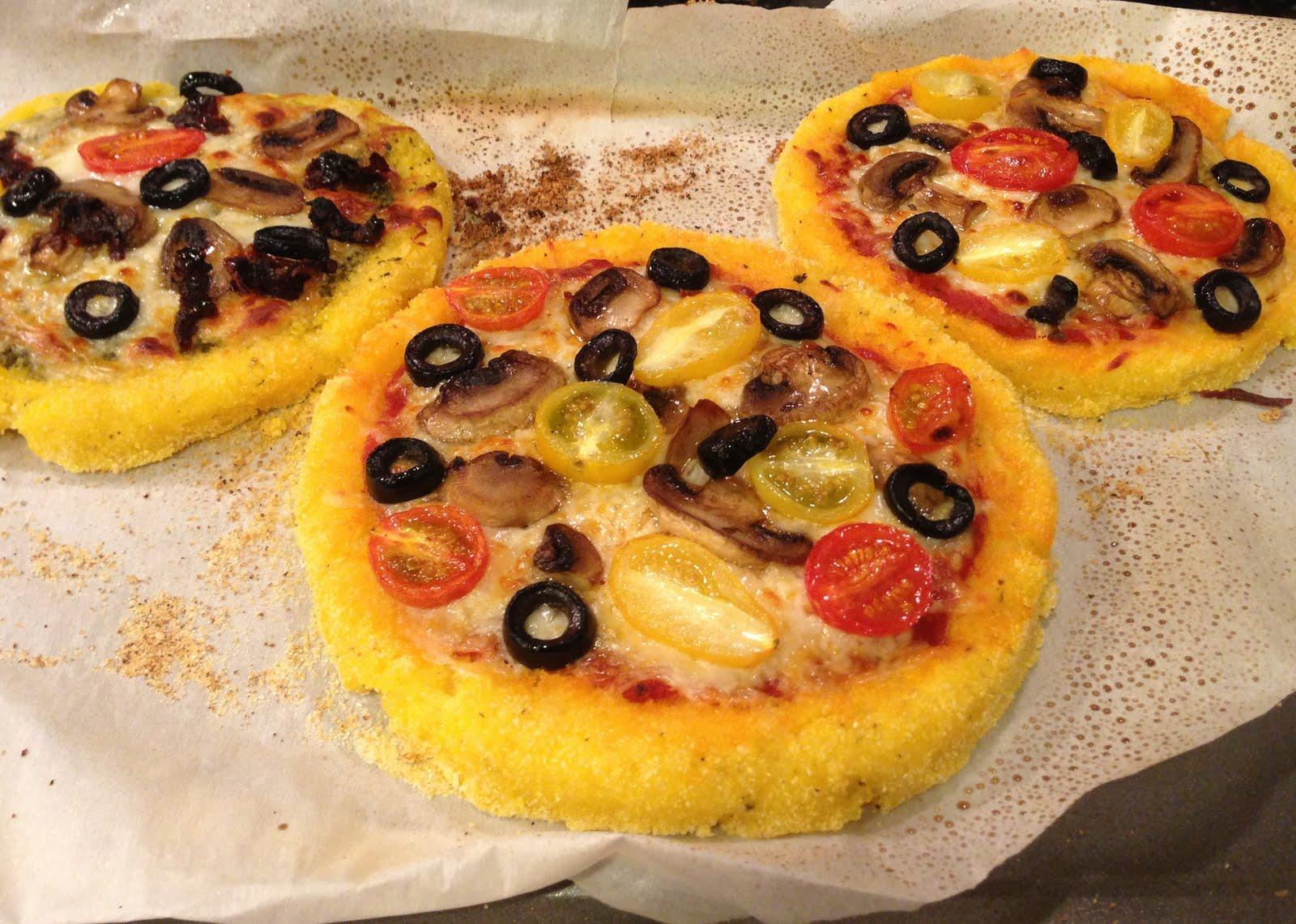 Polenta Mini Pizzas With Mighty Marinara Sauce Recipe — Dishmaps