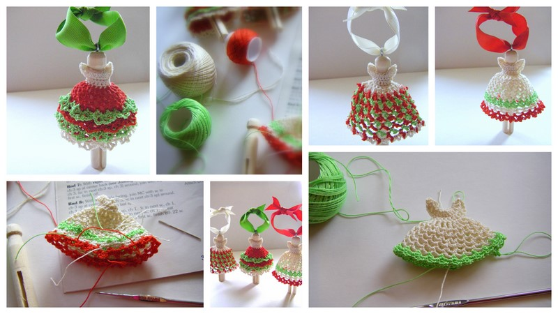 Sew Ritzy Titzy Christmas Clothespin Angels
