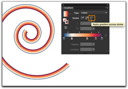 Illustrator CS6 Tutorial : Gradients on Strokes