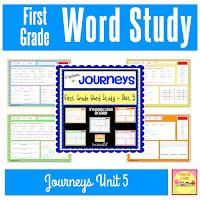Journeys Word Study Unit 5