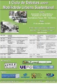 Ciclo de Debates - Mobilidade Urbana Sustentável (já realizado)