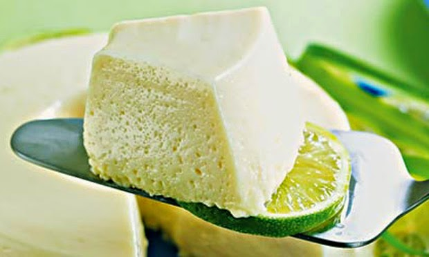 Musse de erva-cidreira e limão light