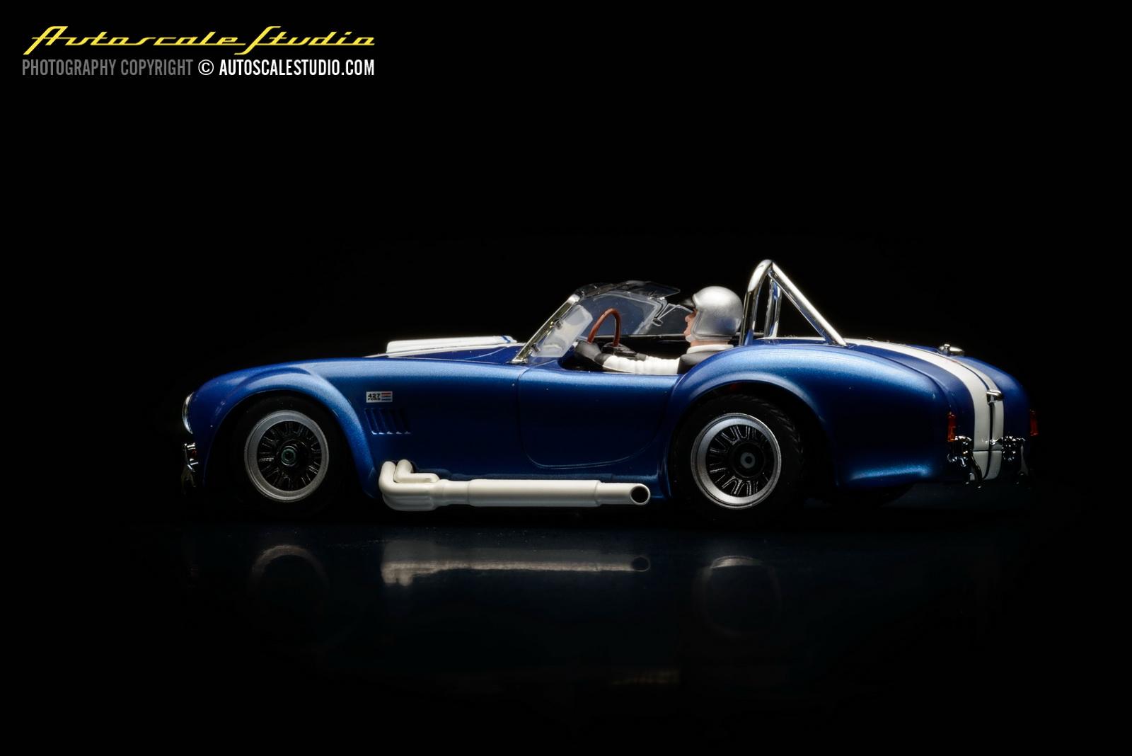 Autoscale studio mini z mzg38mb shelby cobra 427 s c metallic blue
