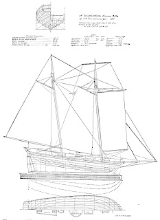 Ship plan from Howard Chapelle's History of American Sailing Ships