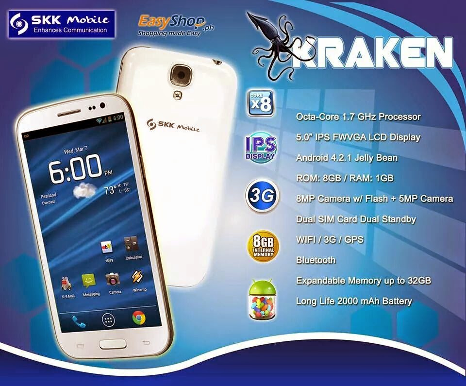 SKK Octa Core Android Specs and Price