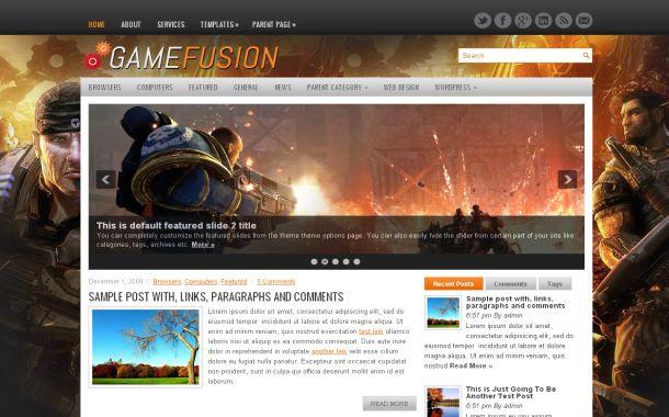 Fusion Game WordPress Thème