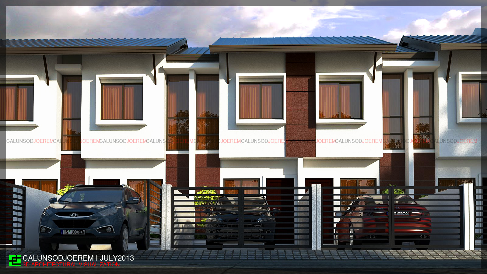 Jecalunsod architectural visualization residential projects for Two storey apartment design