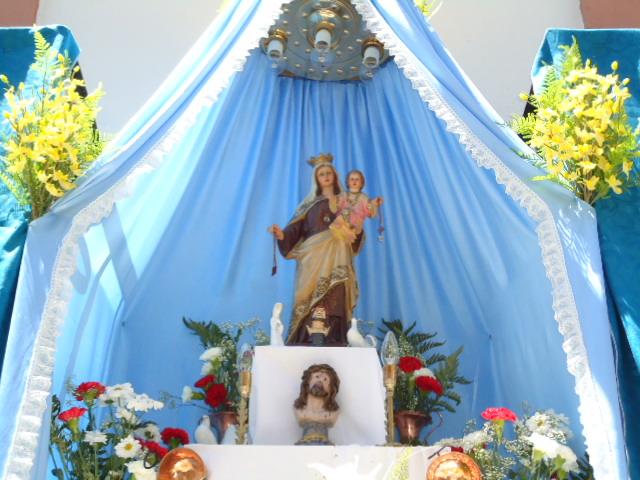 Decoracion Altar Para La Virgen ~ Procesi?n de Ntra Sra del Carmen por el barrio de San Juan en 2010
