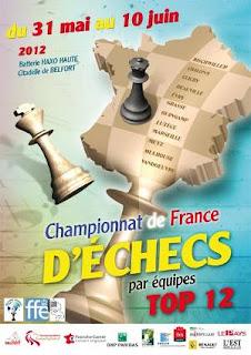 Échecs à Belfort : l'affiche officielle du Top 12 © FFE