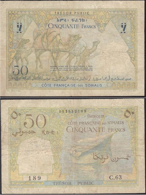 Djibouti 50 Francs 1952 P# 25