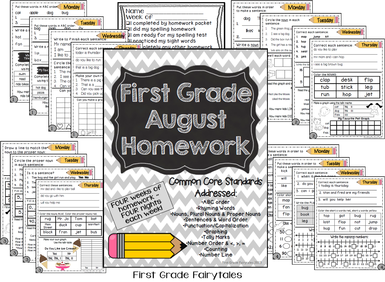 http://www.teacherspayteachers.com/Product/First-Grade-Common-Core-Homework-August-790308