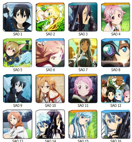 Sword Art Online Folder pack icon