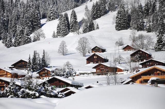 gstaad ski station berne