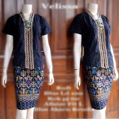 model-kebaya-rok-batik-prada-Velisa-hitam