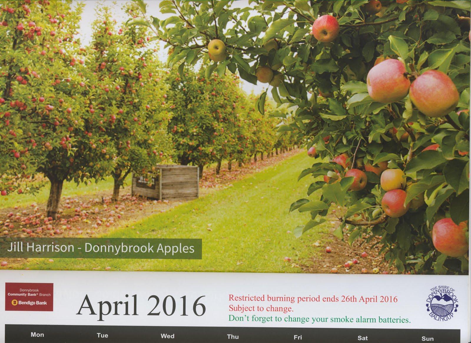 Donnybrook-Balingup Shire 2016 calendar
