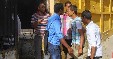 سقوط بوابة حديدية على 5 طلاب بالسويس و إصابتهم