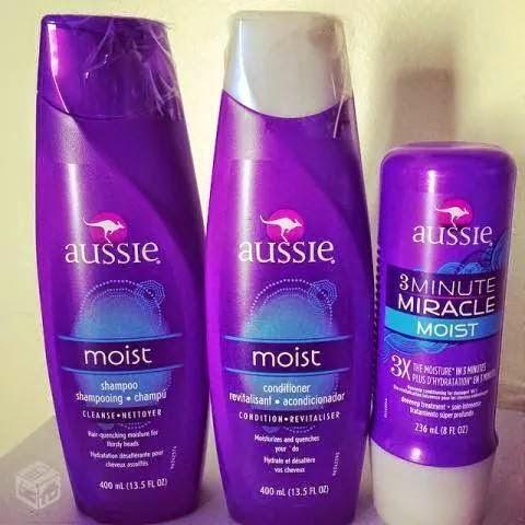 Shampoo Aussie Moist 400 ml + Condicionador Aussie Moist 400 ml + Miracle Moist 3 minute 236 ml