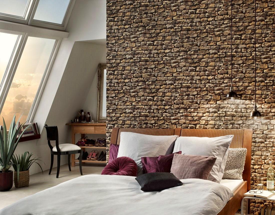 Papel de parede ou pedra decora o e ideias - Papel paredes ikea ...