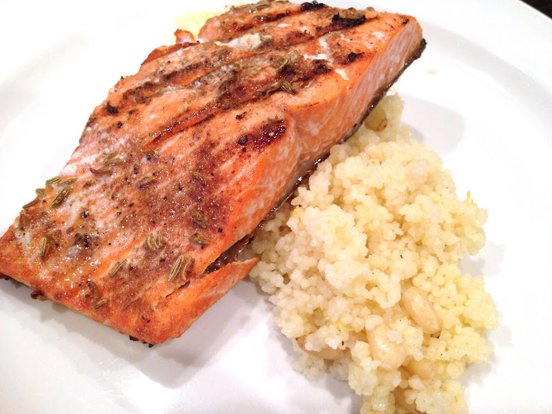 Lex's Life as a New Wife: Grilled Salmon with Brown Butter Couscous
