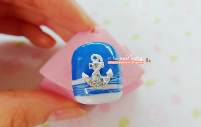 Bikini & Anchor nail deco parts for hot Summer beach look!