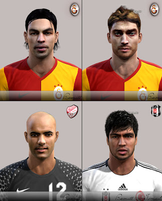 Preview PES 2012: Faces Ibrahim Toraman, Riera, Selcuk Inan e Sinan Bolat