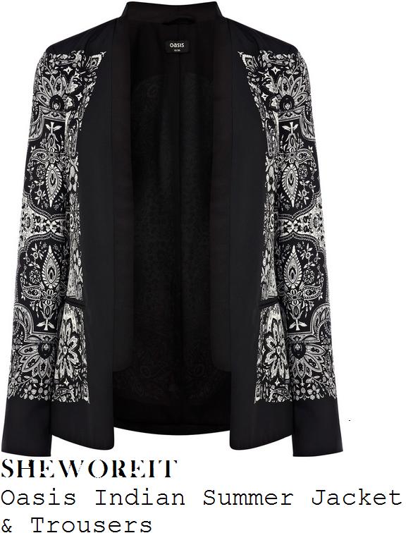 lauren-pope-black-white-paisley-print-suit