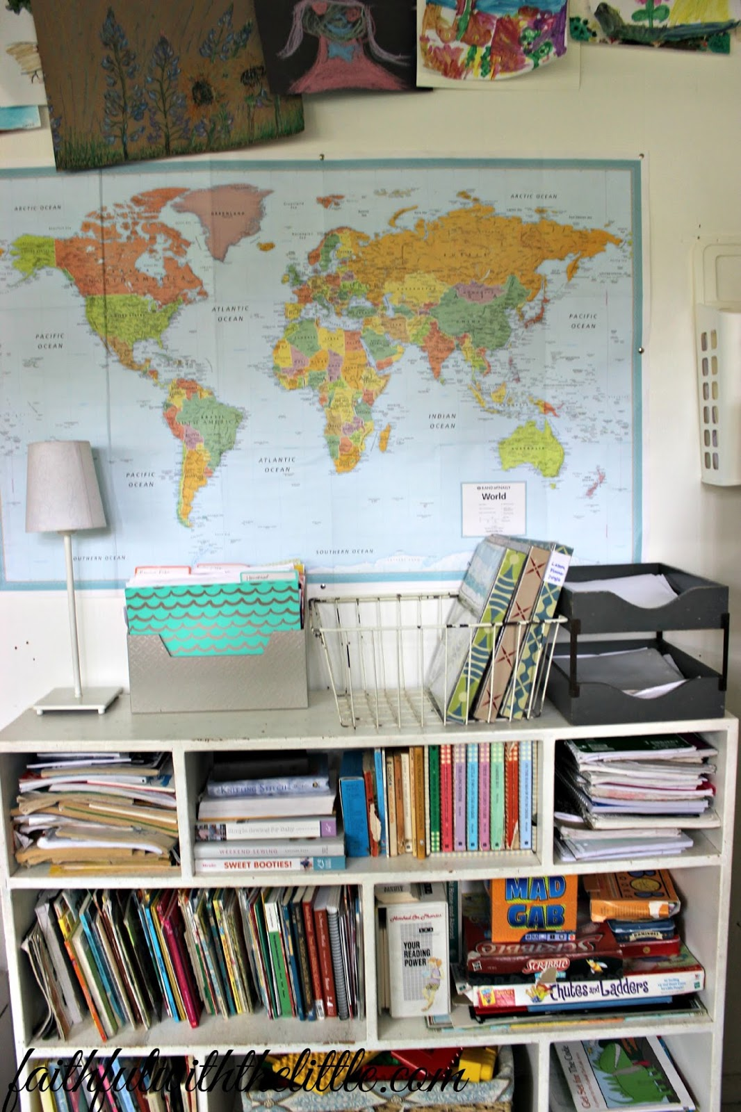 Faithful with the little our homeschool room we dont have a lot of wall space which is frustrating at times but i made sure to hang a world map on the one wall that we do have open gumiabroncs Images