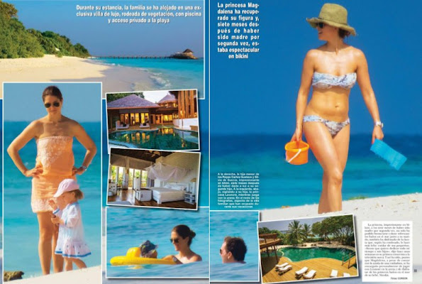 Princess Madeleine of Sweden and her husband Chris O'Neill, their children Princess Leonor and Prince Nicholas celebrated the new year by having an holiday at Soneva Fushie which is a luxury holiday village of Maldives.