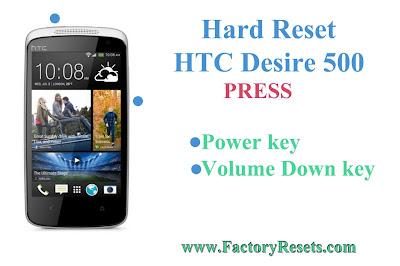 Hard Reset HTC Desire 500