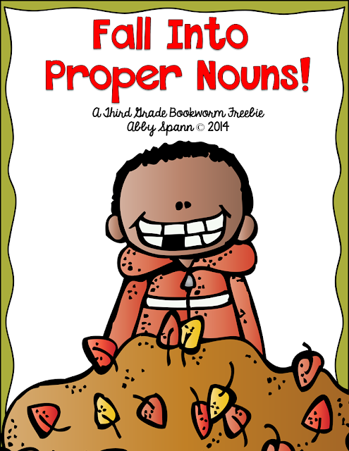 http://thirdgradebookworm.blogspot.com/2014/10/fall-into-proper-nouns-freebie.html