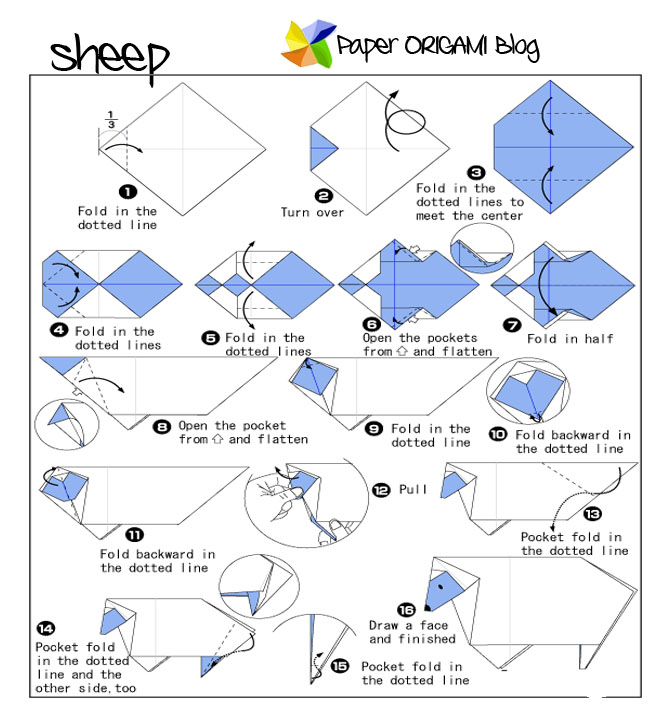 Download Photos HERE Sheep Origami