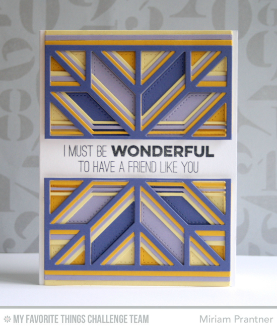 It Must Be Wonderful Card from Miriam Prantner featuring the Quilt Square Cover-up Die-namics