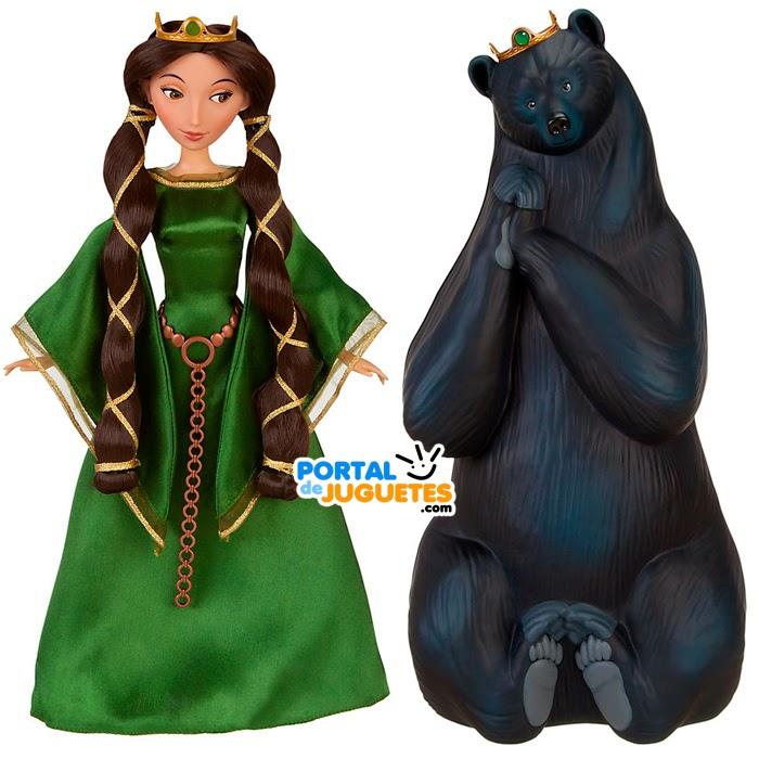 muñeca reina elinor brave set transformacion