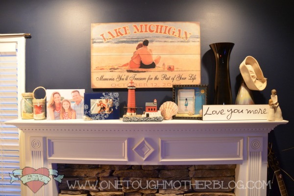 Nautical Mantle on www.sweetteaandsavinggraceblog.com